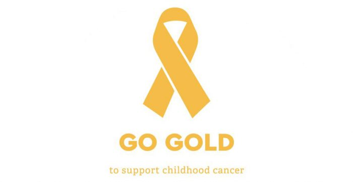 GO GOLD to support Childhood Cancer