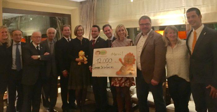 Généreux dîner de bienfaisance : 12.000 euros remis à la Fondatioun Kriibskrank Kanner